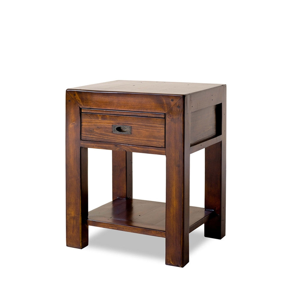 Post & Rail Bedside Table available at Fabers Furnishings