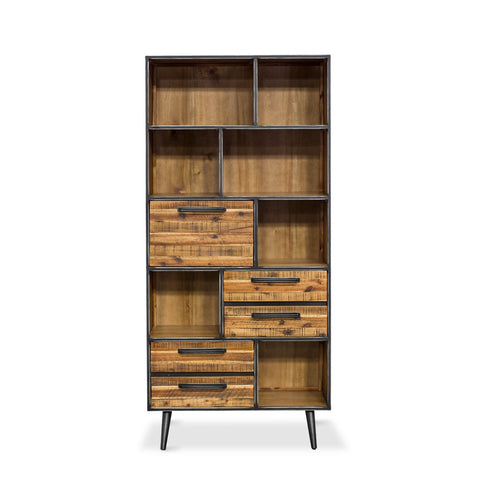 Rustic Skandy Bookcase by Fbd available at Fabers furnishings