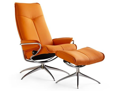 City Leather Recliner- Stressless at Fabers Furnishings