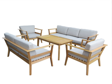 Capri 4pce Outdoor Lounge Suite (Excludes 3 Seater Pictured)