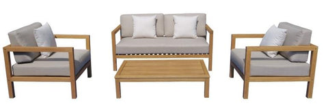 Augustine 4pce Outdoor Lounge Suite available at Fabers Furnishings