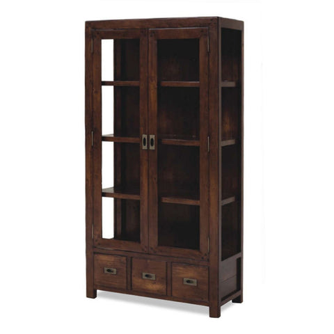 Post & Rail Jamaican Display Cabinet by Fbd available at Fabers Furnishings