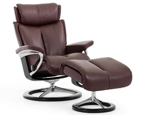 Magic Leather Recliner at Fabers Furnishings