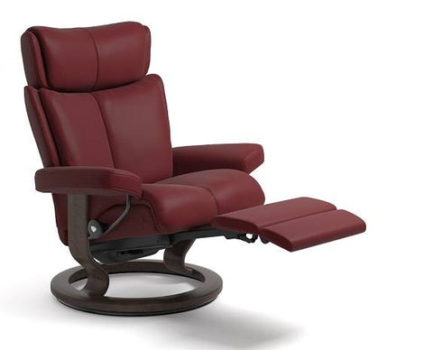 Magic Leg Comfort Recliner- Stressless available at Fabers Furnishings