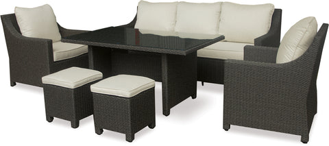 Danske Mobler Messa 6pce Outdoor Low-Dining Suite available at Fabers Furnishings