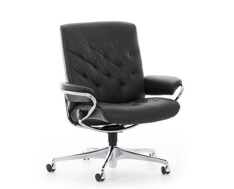Metro Low Office Chair by Stressless at Fabers Furnishings