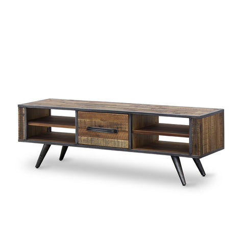 Rustic Skandy Low-Line Media Centre by Fbd available at Fabers Furnishings