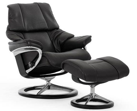 Reno Leather Recliner by Stressless at Fabers Furnishings