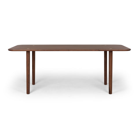Brass & Walnut Dining Table at Fabers Furnishings