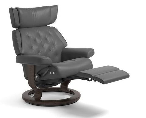 Skyline Leg Comfort Recliner- Stressless available at Fabers Furnishings