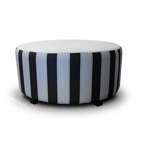 Small Round Ottoman at Fabers Furnishings
