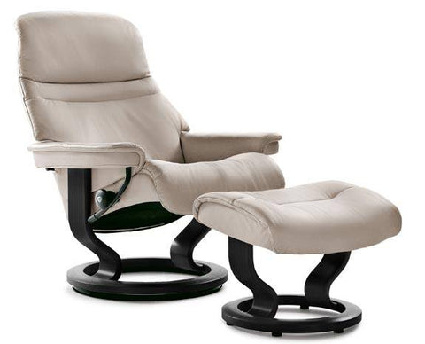 Sunrise Classic Leather Recliner by Stressless at Fabers Furnishings