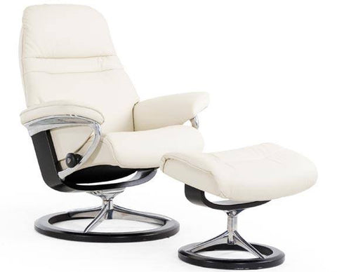 Sunrise Leather Recliner by Stressless at Fabers Furnishings