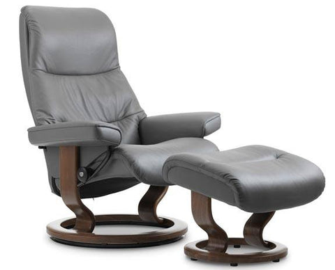 View Classic Leather Recliner by Stressless at Fabers Furnishings
