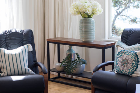 LaZBoy Cubus Console Table with Shelf available at Fabers Furnishings