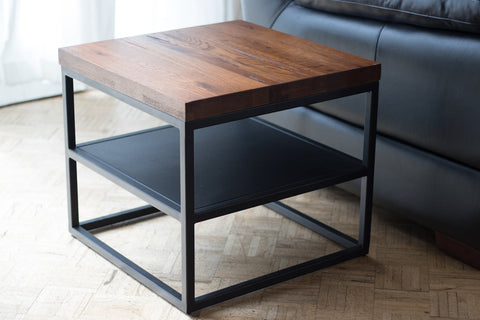 LaZBoy Cubus Lamp Table with Shelf available at Fabers Furnishings