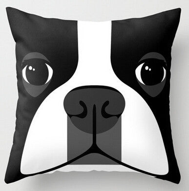 Boston Terrier Pillow Cases - Closeup