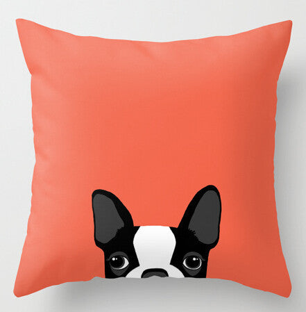 Boston Terrier Pillow Cases - Peekaboo