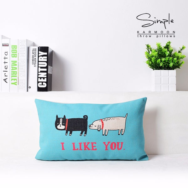 Cute Dog Art Pillow -