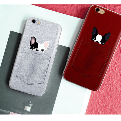 Frenchie in a Pocket iPhone 5/6/Plus case - Get yours FREE and we'll feed a shelter dog