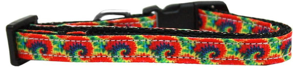 Tie Dye Nylon Ribbon Dog Collar