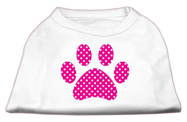 Pink Swiss Dot Paw Screen Print Shirt