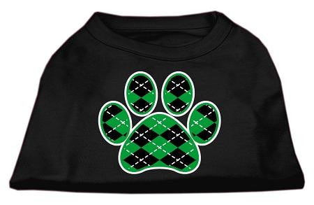 Argyle Paw Green Screen Print Shirt