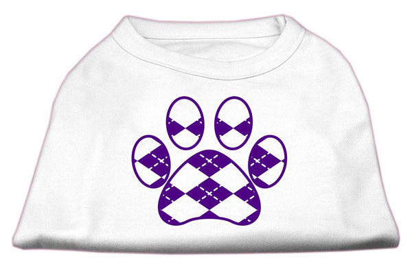Argyle Paw  Screen Print Shirt