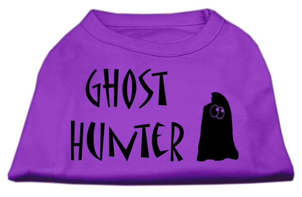 Ghost Hunter Screen Print Shirt  With Black Lettering