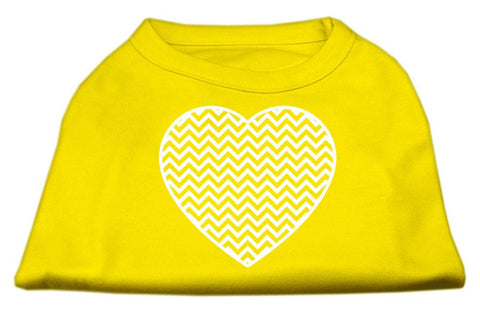 Chevron Heart Screen Print Dog Shirt