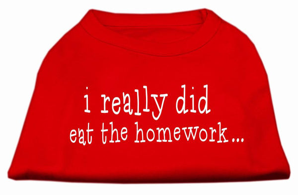 I Really Did Eat The Homework Screen Print Shirt