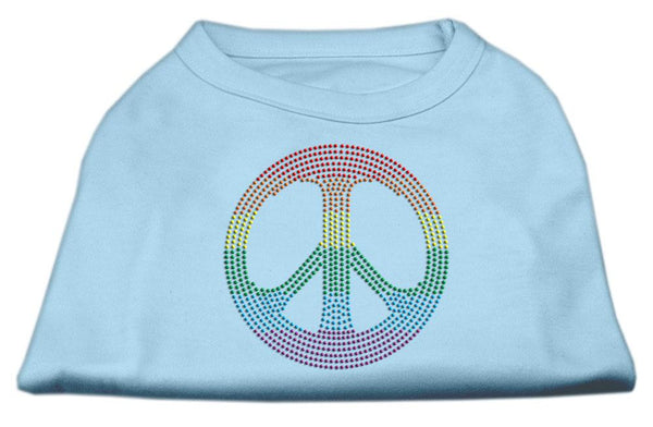 Rhinestone Rainbow Peace Sign Shirts