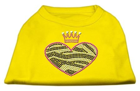 Zebra Heart Rhinestone Dog Shirt