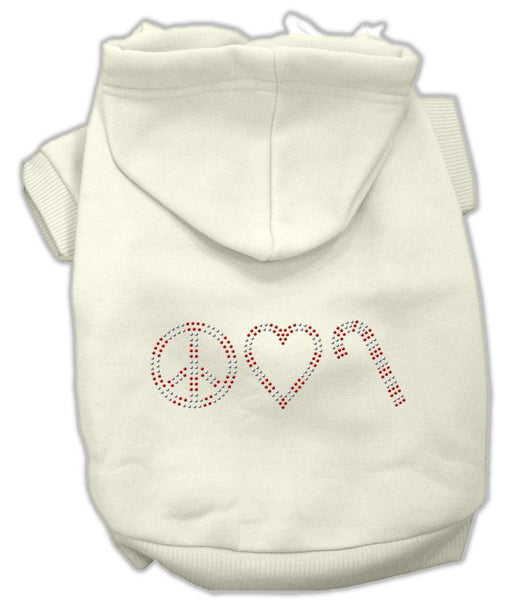 Peace, Love And Candy Canes Hoodies