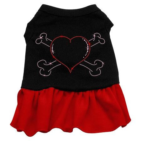 Rhinestone Heart And Crossbones Dress