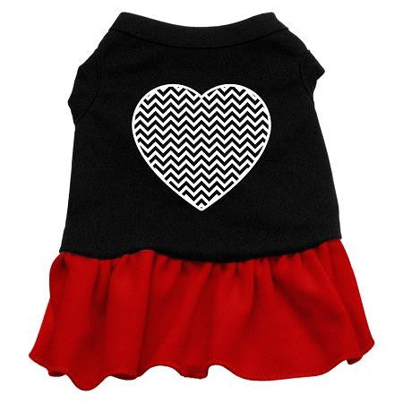 Chevron Heart Screen Print Dress