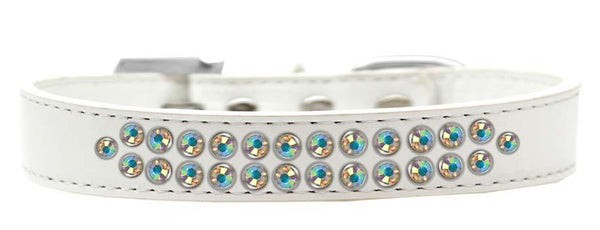 Two Row Ab Crystal   Dog Collar