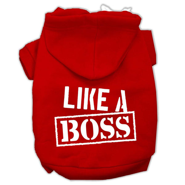 Like A Boss Screen Print Pet Hoodies