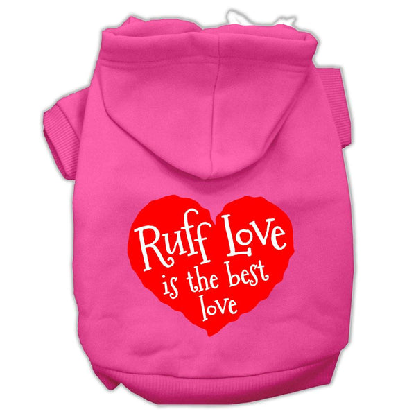 Ruff Love Screen Print Pet Hoodies