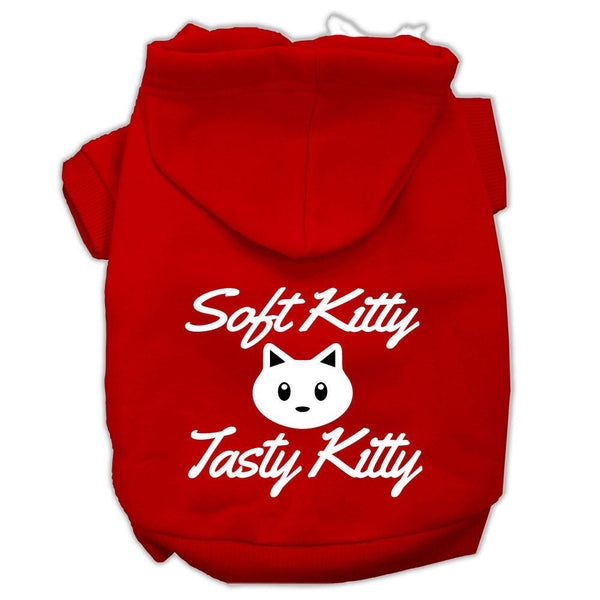 Softy Kitty, Tasty Kitty Screen Print Dog Pet Hoodies