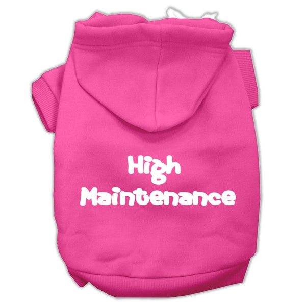 High Maintenance Screen Print Pet Hoodies