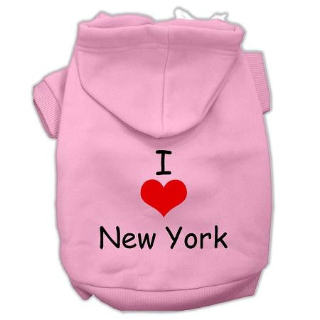 I Love New York Screen Print Pet Hoodies