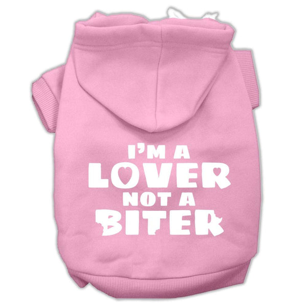 I'm A Lover Not A Biter Screen Printed Dog Pet Hoodies