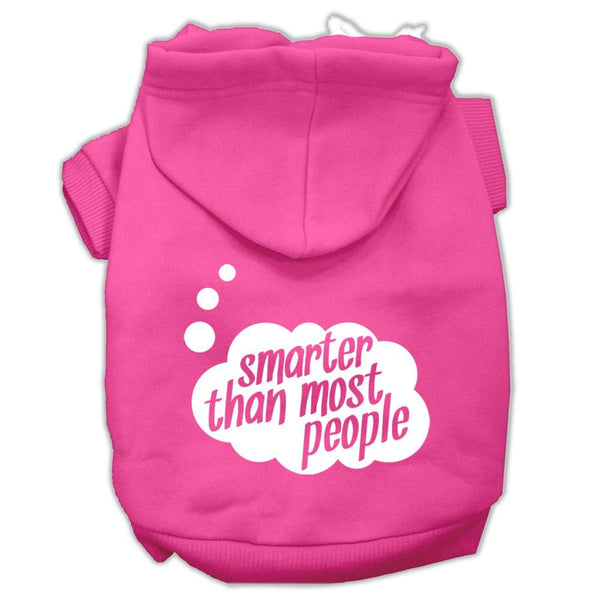 Smarter Then Most People Screen Printed Dog Pet Hoodies