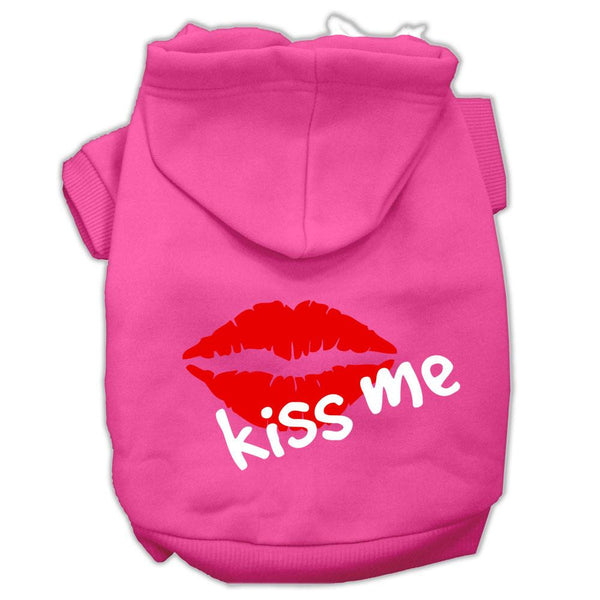Kiss Me Screen Print Pet Hoodies