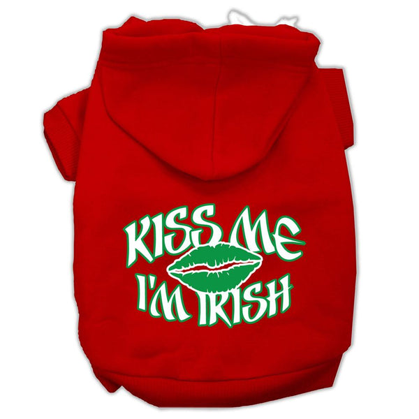 Kiss Me I'm Irish Screen Print Pet Hoodies