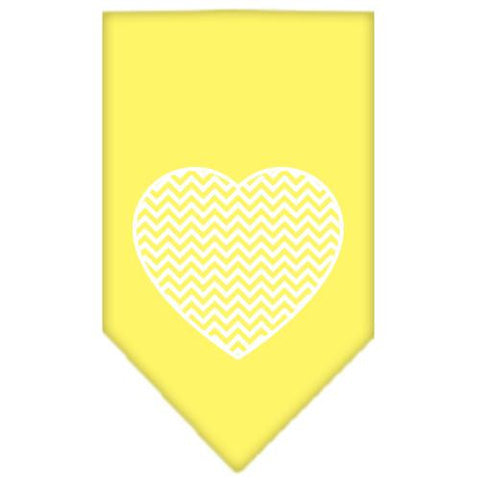 Chevron Heart Screen Print Bandana