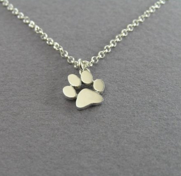 FREE Dog Paw Print Pendant Necklace in Gold or Silver
