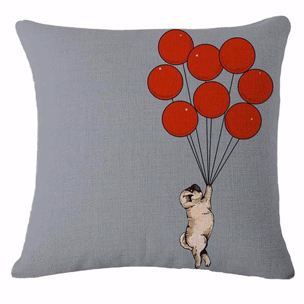 Decorative Dogs Pillow Case - Soaring Pug