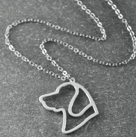 Beagle Silhouette Pendant Necklace